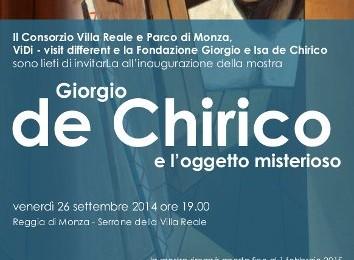 Giorgio de Chirico al Serrone della Villa Reale di Monza