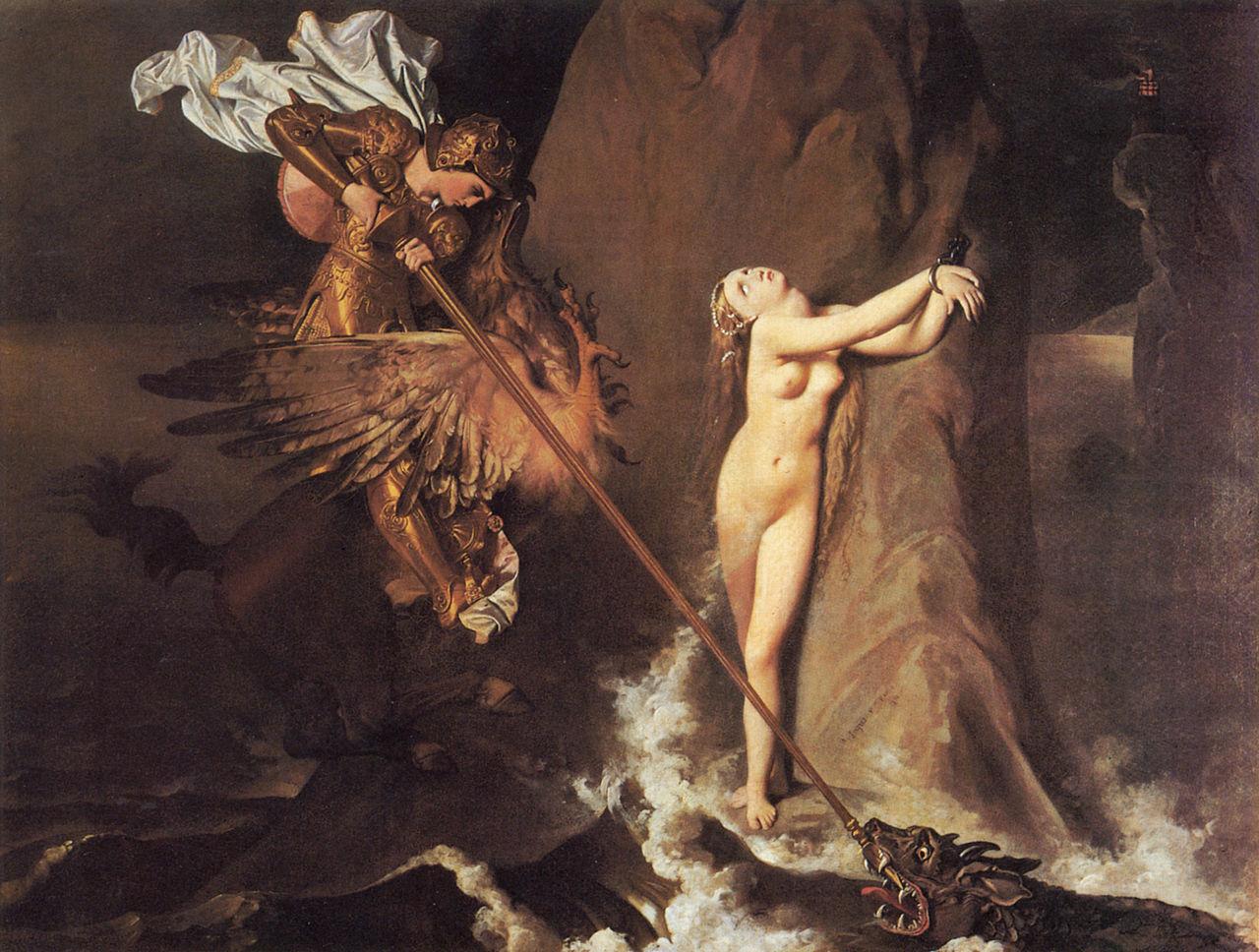 Jean-Auguste-Dominique Ingres_Angelica_ 1819_Louvre