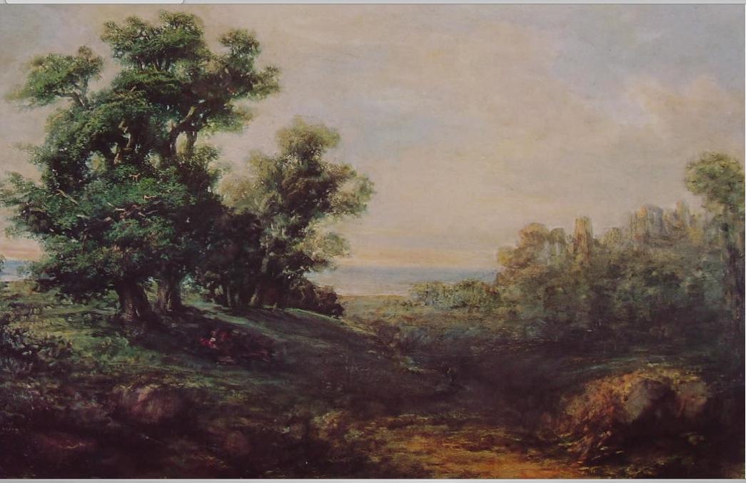 Giovanni Carnovali, detto Il Piccio, Paesaggio dai grandi alberi, 1850, olio su tela, Milano, Civica Galleria d'arte Moderna