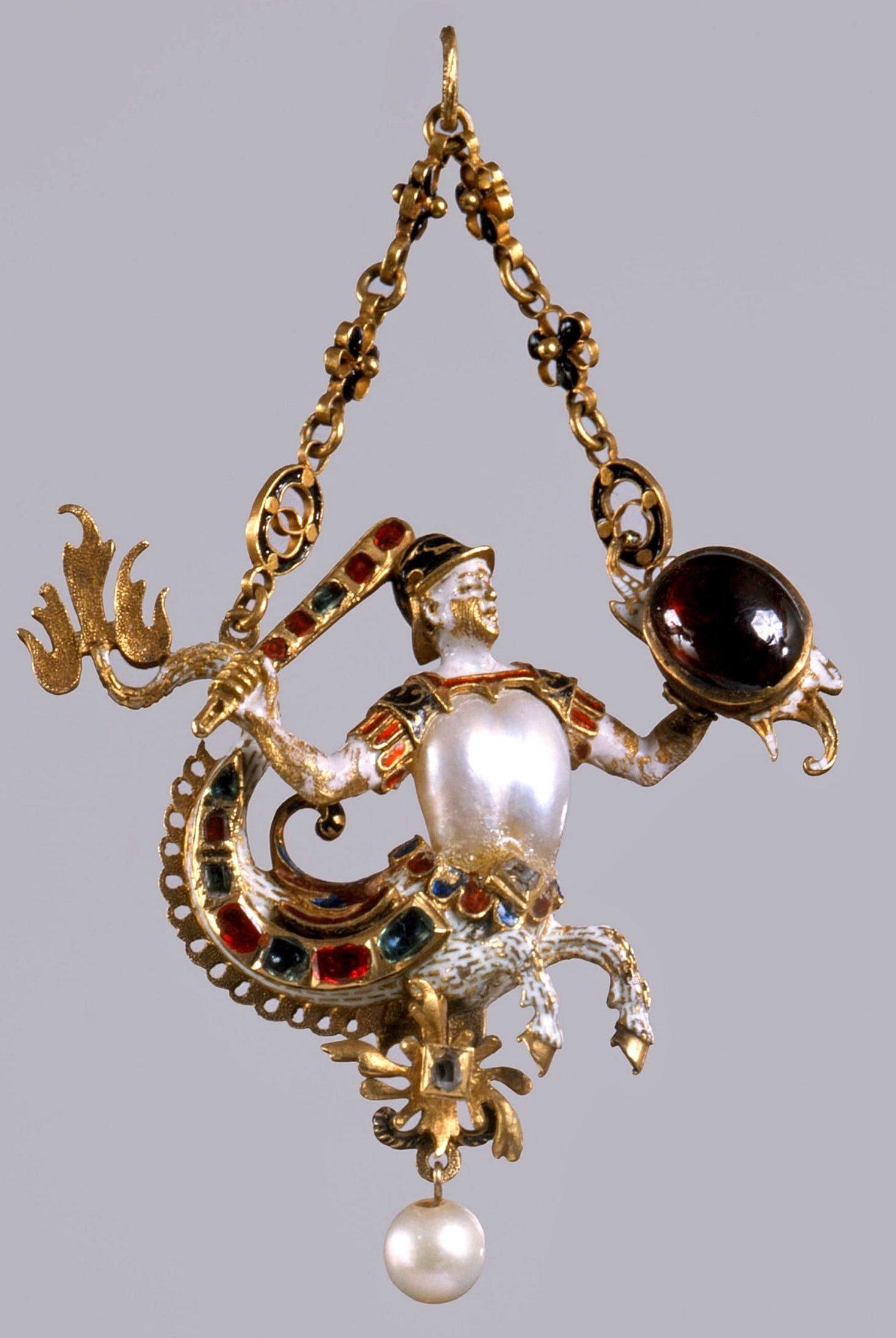CorsiArte_pendente con tritone, 1580 – 1590_museo argenti_firenze