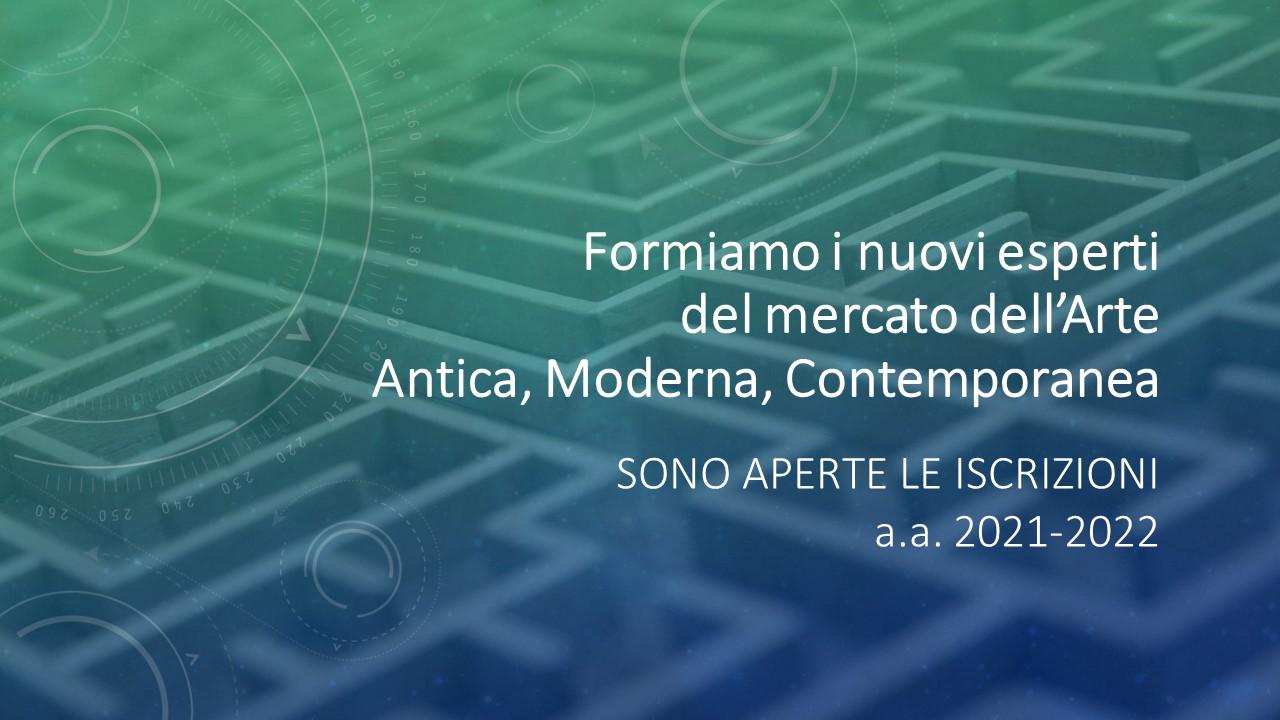FORMIAMO I NUOVI ESPERTI DEL MERCATO DELL'ARTE